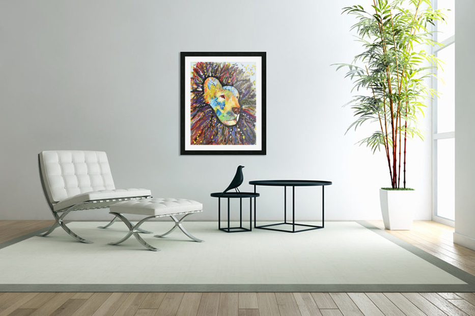 Lively Lion.Maggie Z in Custom Picture Frame