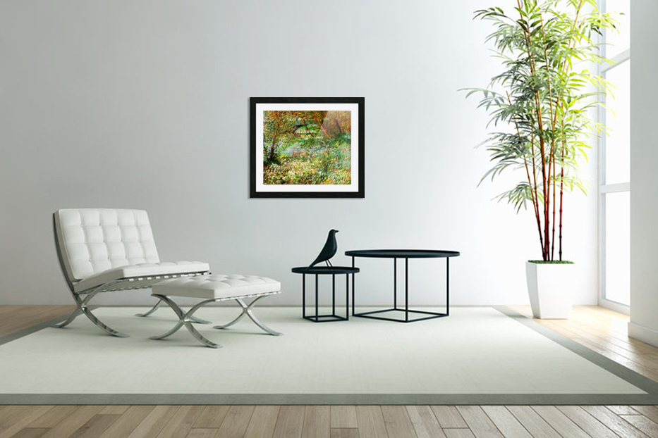 Banks of the Seine with Pont de Clichy in the Spring by Van Gogh in Custom Picture Frame