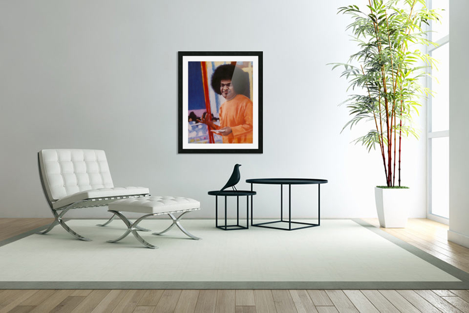 Sathya Sai Baba in Custom Picture Frame