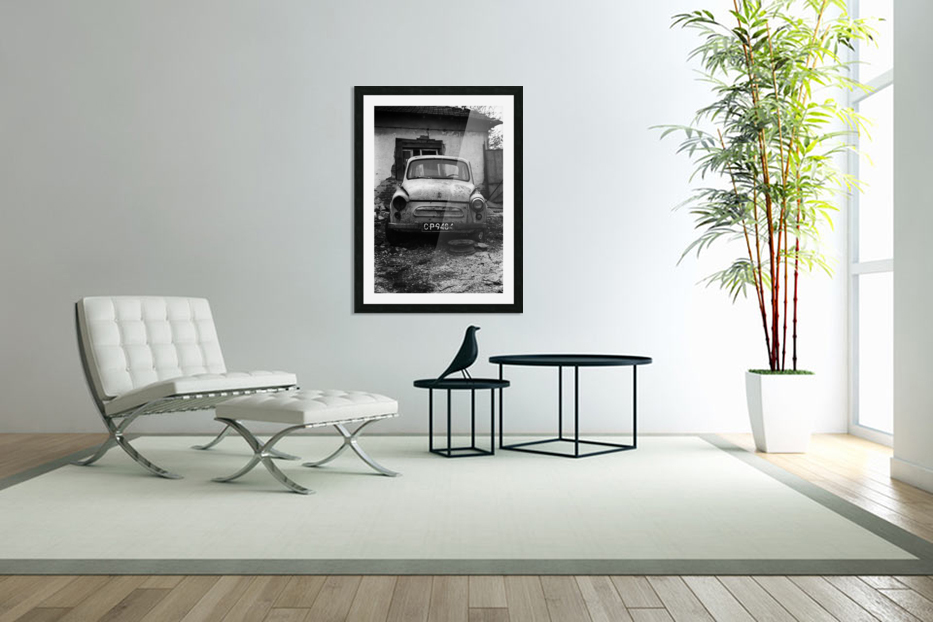 Abandoned ZAZ 965  USSRs replica of FIAT 600 in Custom Picture Frame