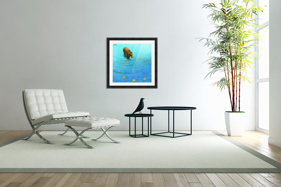 gold fishes in Custom Picture Frame