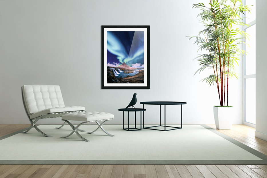 Aurora Polaris And The River in Custom Picture Frame