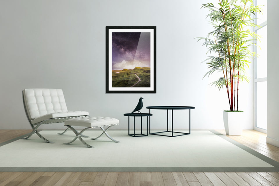 Purple Milky Way And The Sunshine in Custom Picture Frame