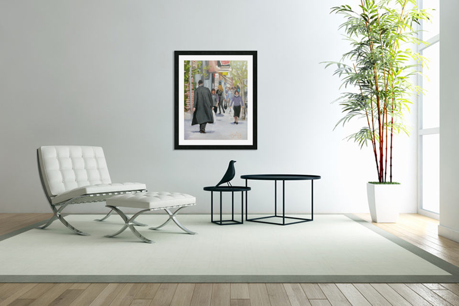 St-Viateur Street in Custom Picture Frame