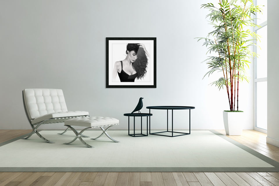 Contemplation in Custom Picture Frame