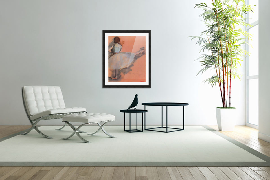 Dancer at the bar 1 by Degas in Custom Picture Frame