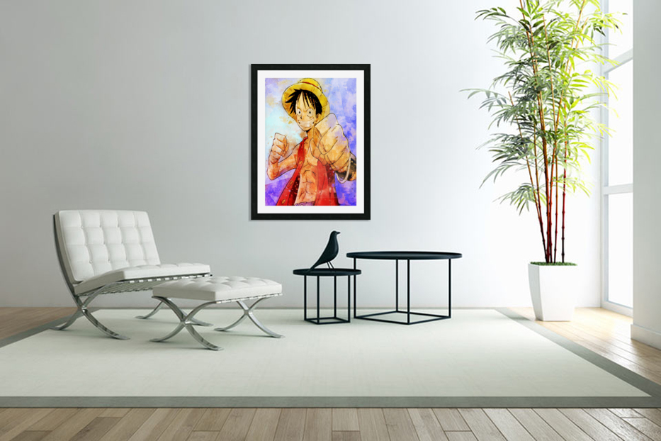 Luffy in Custom Picture Frame