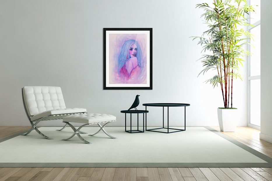 HIVER in Custom Picture Frame
