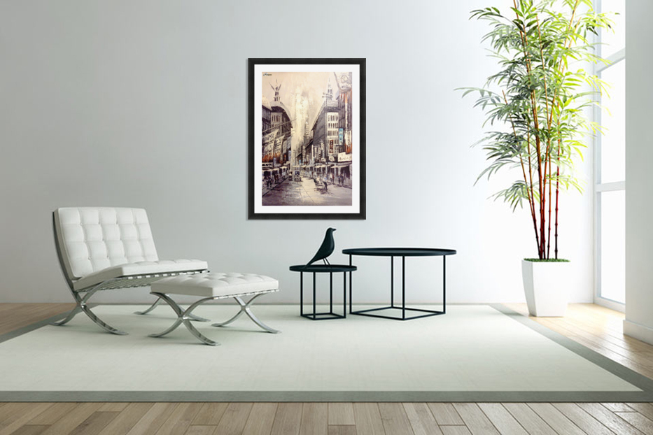 Old Hong Kong Street View in Custom Picture Frame