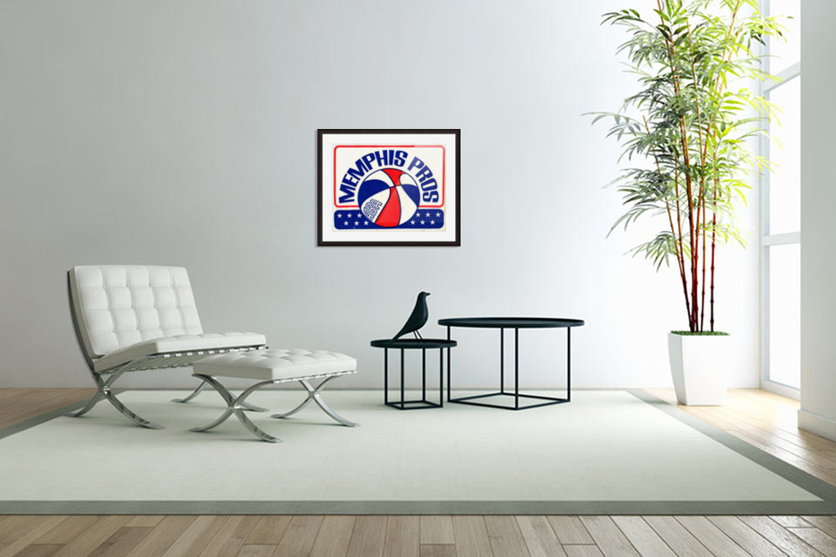 1971_American Basketball Association_Memphis Pros_Row One Brand in Custom Picture Frame