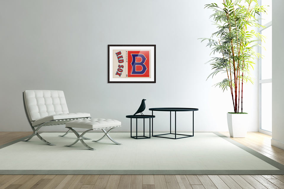 1978 Boston Red Sox Fleer Decal Reproduction 1200 DPI Scan Art by Row One™ in Custom Picture Frame