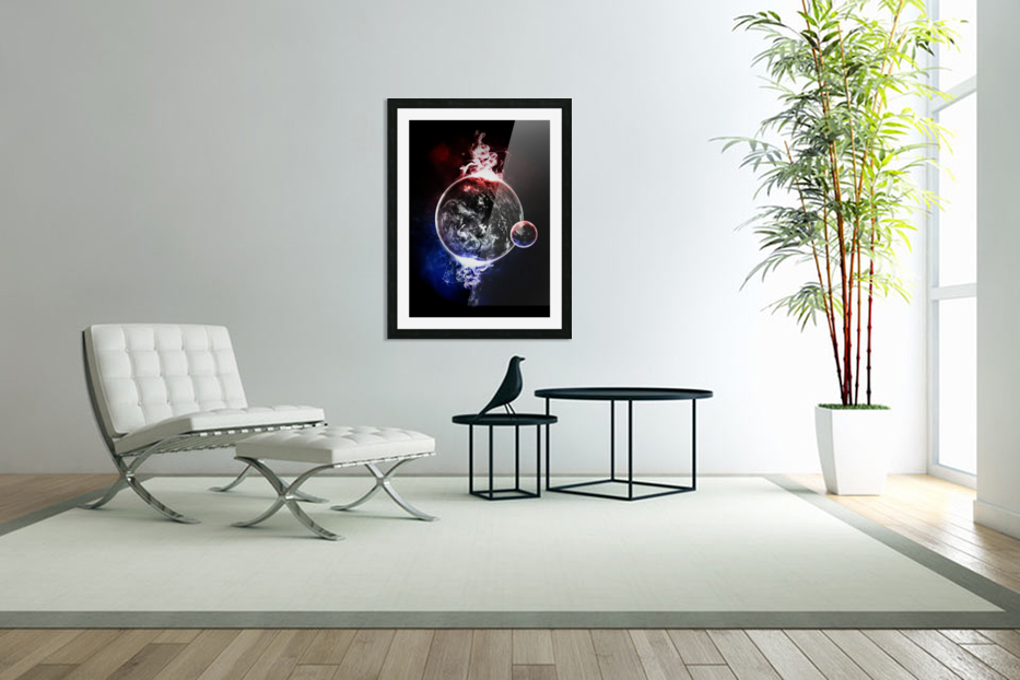 Earth Atmospheric Vapors in Custom Picture Frame