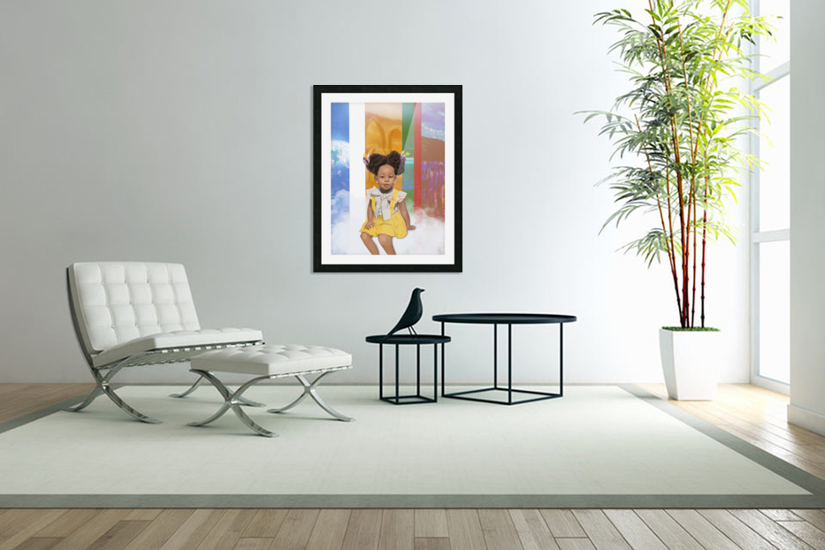 child in Custom Picture Frame