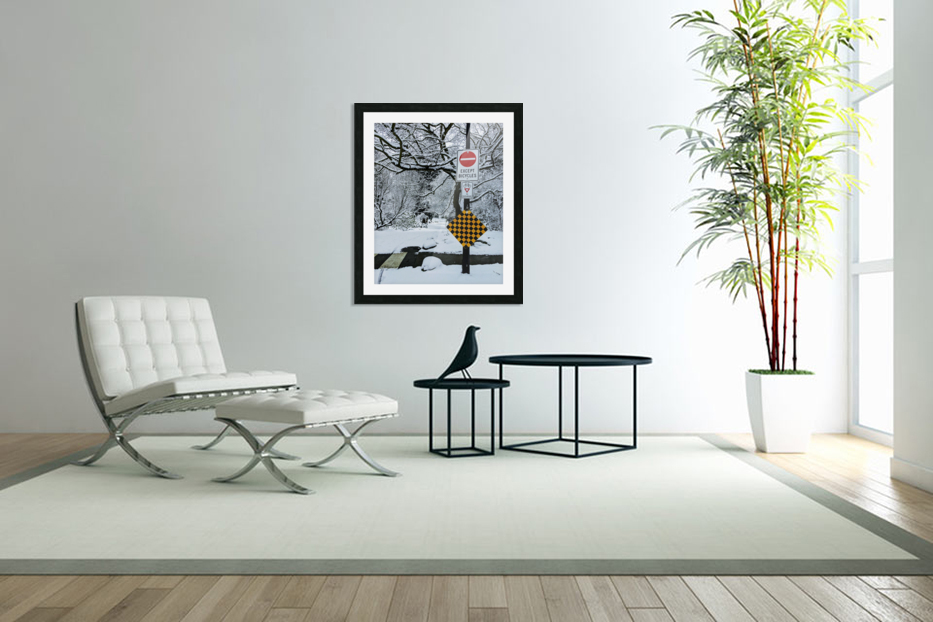 Snowy day in Custom Picture Frame