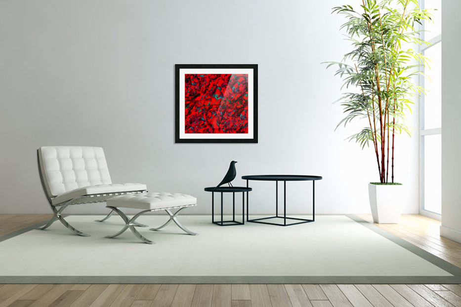 Fluttering red in Custom Picture Frame
