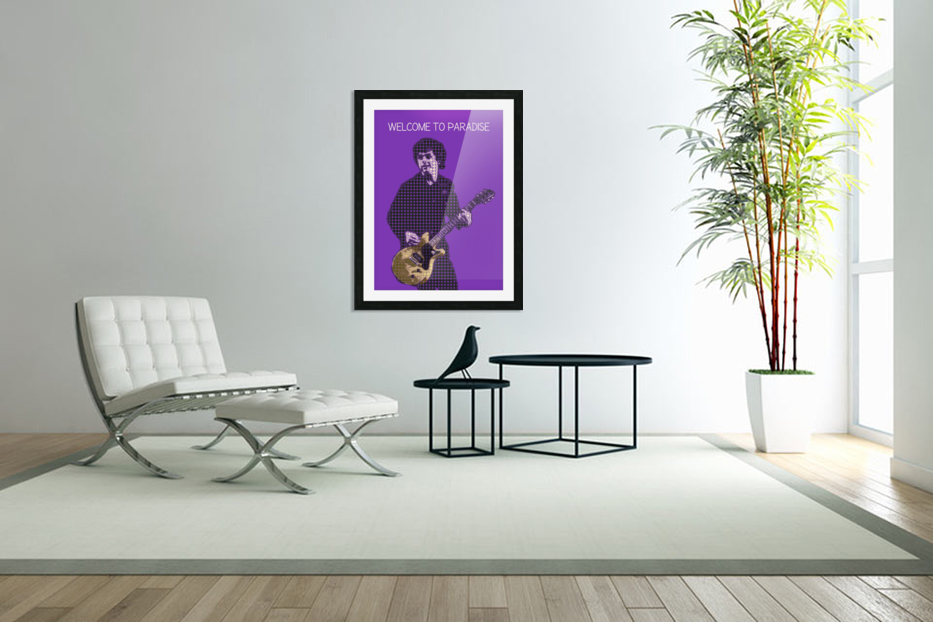 welcome to paradise   Billie Joe Armstrong in Custom Picture Frame