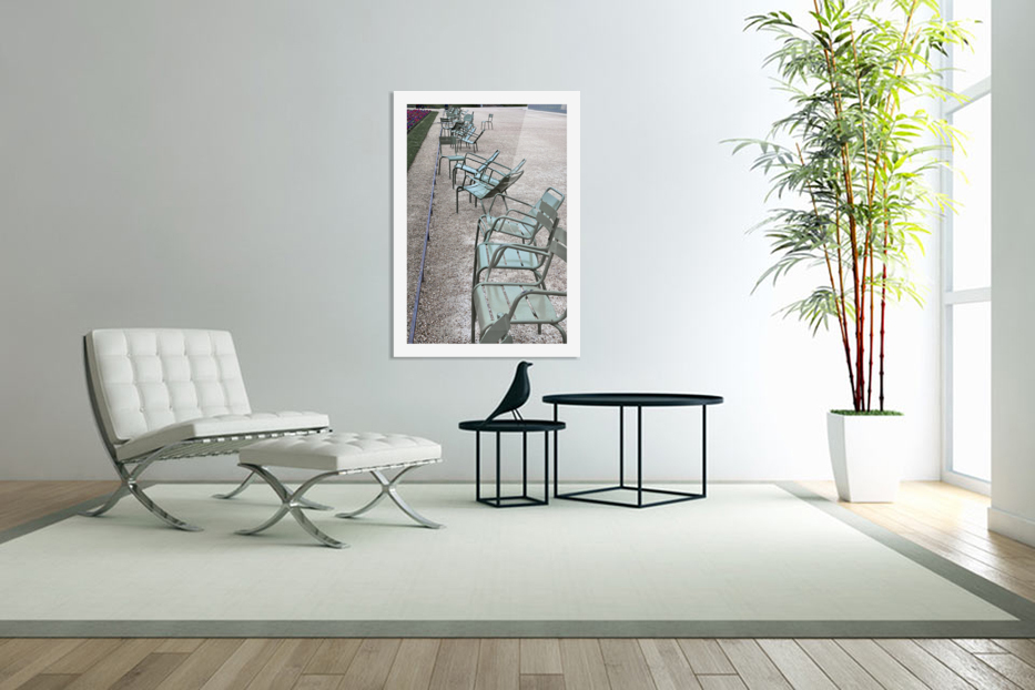Chaises du Luxembourg   1 in Custom Picture Frame