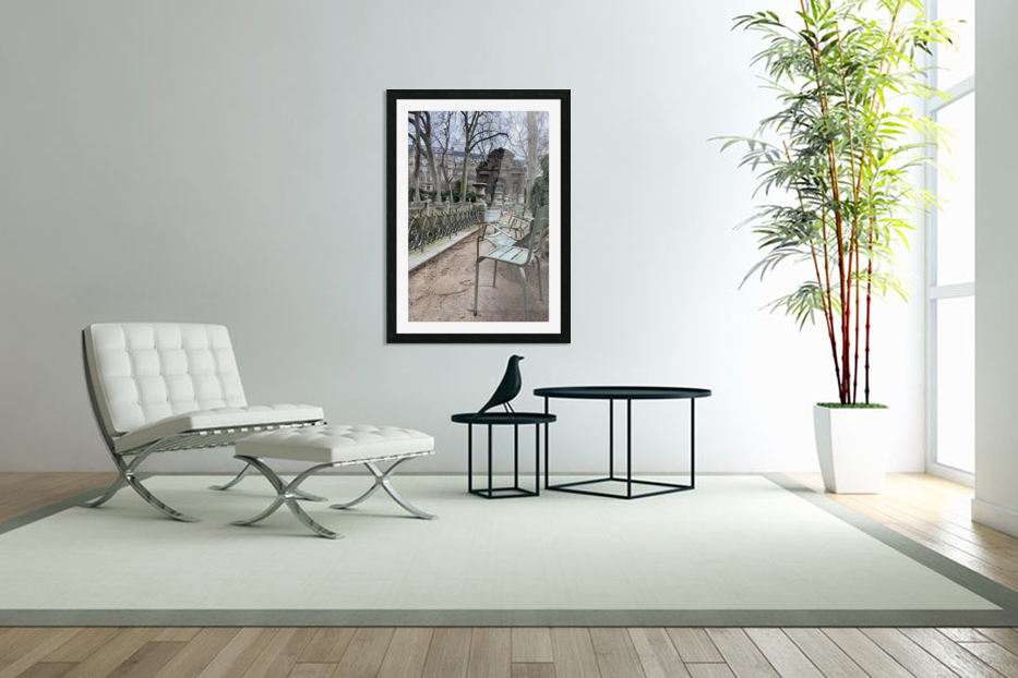 Chaises du Luxembourg   10 in Custom Picture Frame