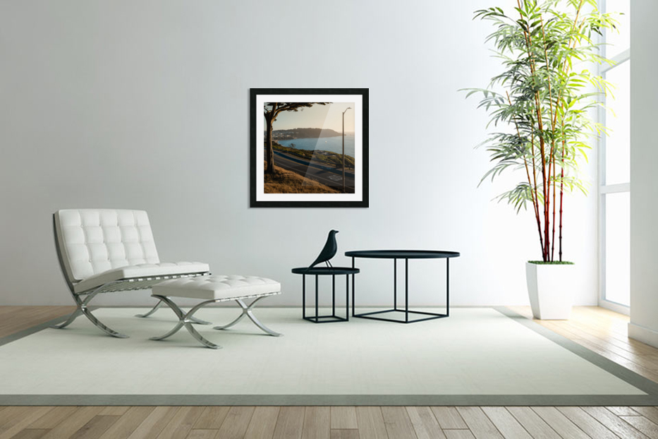 Sunset On San Francisco Coast in Custom Picture Frame