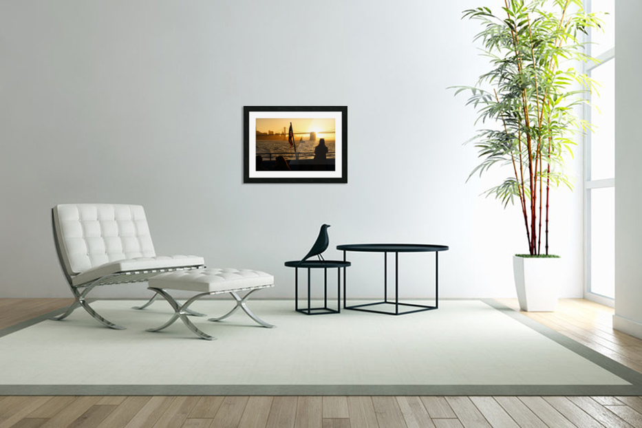 Sunset In The Bay in Custom Picture Frame