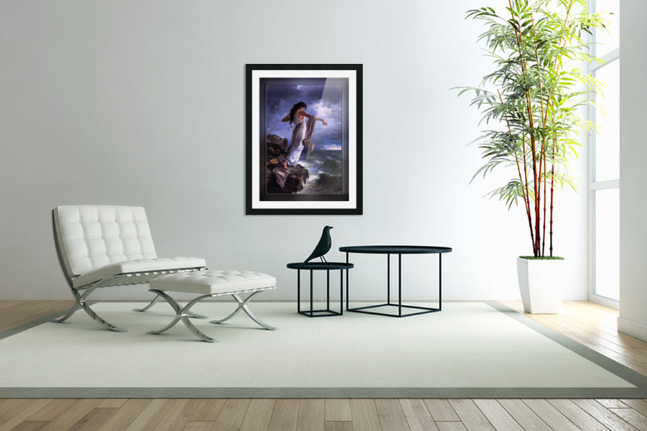 Death of Sappho by Miguel Carbonell Selva in Custom Picture Frame