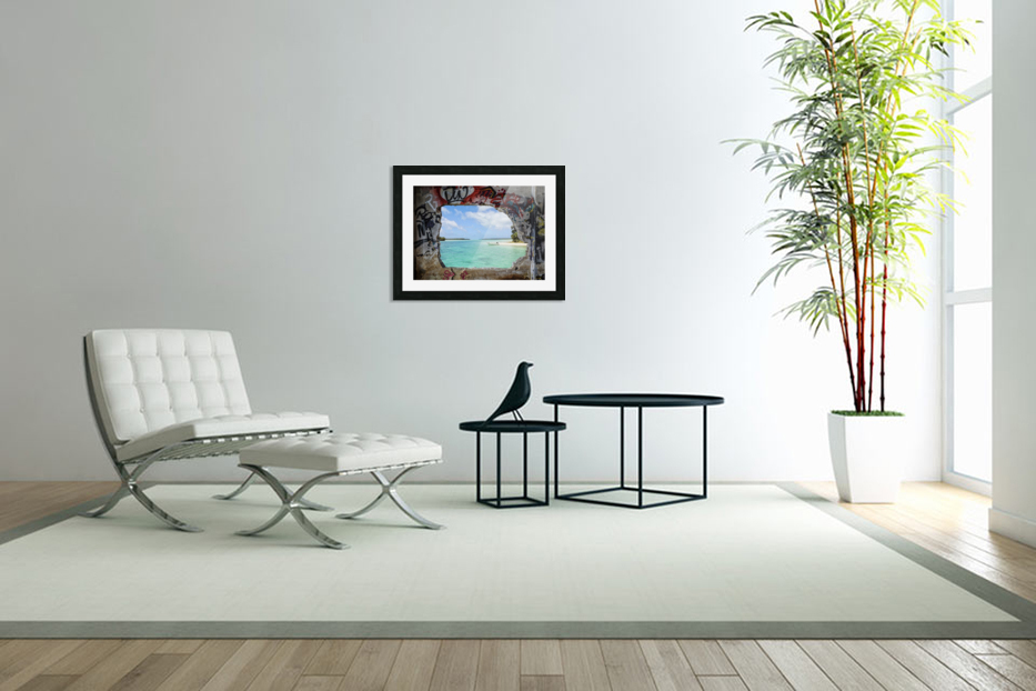 Paradise in Custom Picture Frame