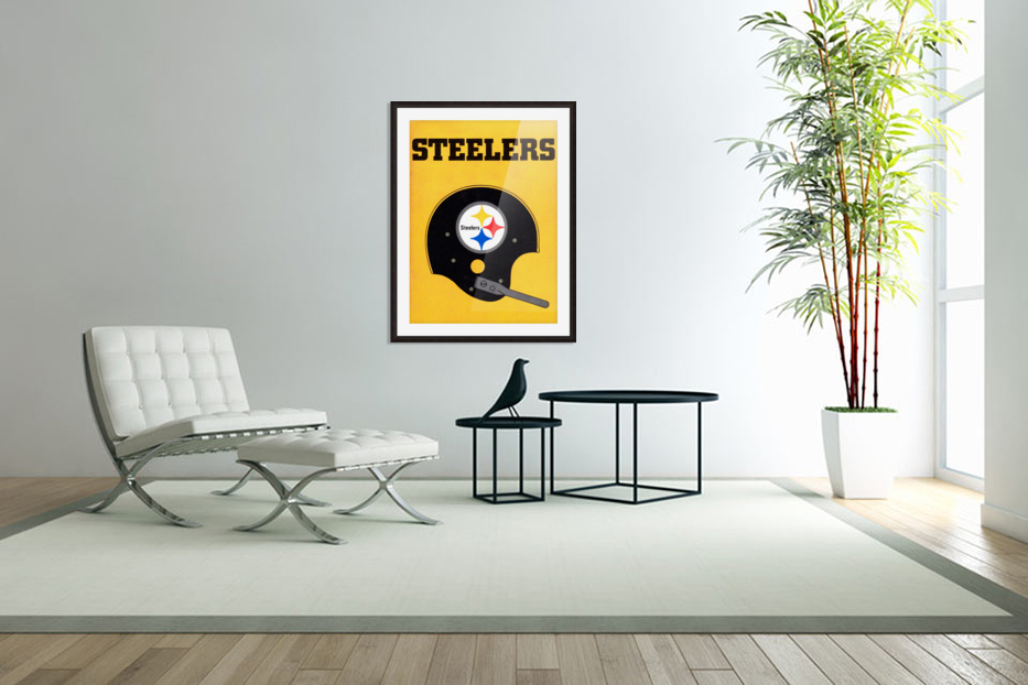 1968 Pittsburgh Steelers Helmet Poster in Custom Picture Frame
