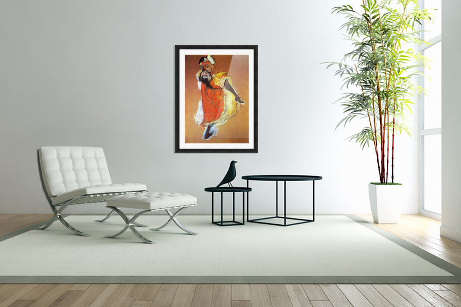 Jane Avril Dancing by Toulouse-Lautrec in Custom Picture Frame