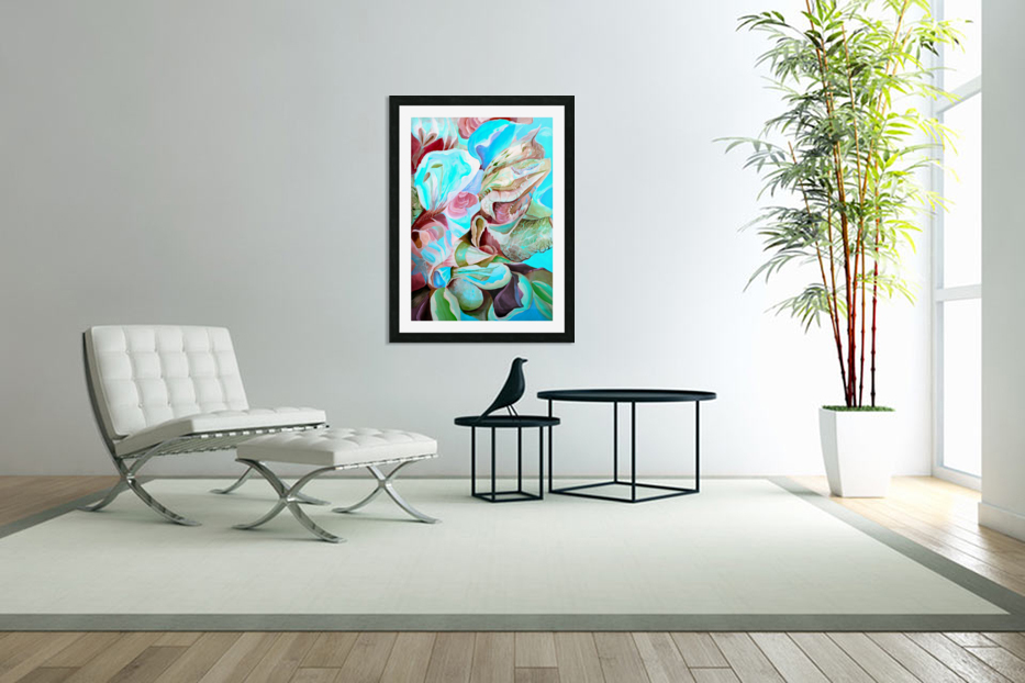 Realm of Tropical Exotic Nature Pattern in Custom Picture Frame