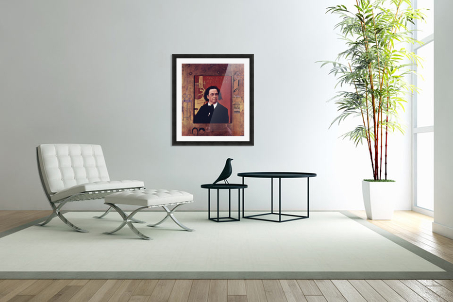 Joseph Pembauer by Klimt in Custom Picture Frame