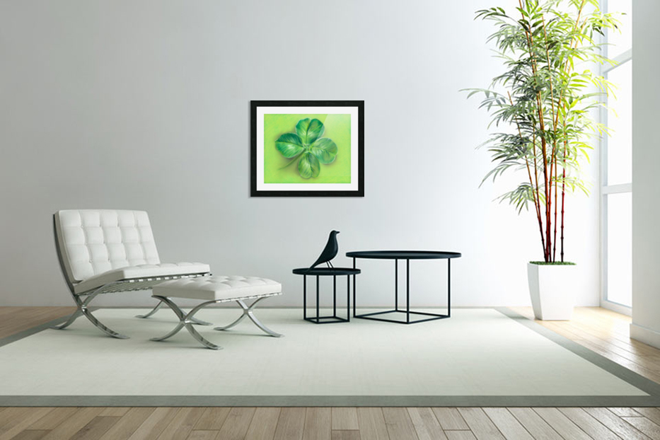 Lucky Four Leaf Clover in Custom Picture Frame