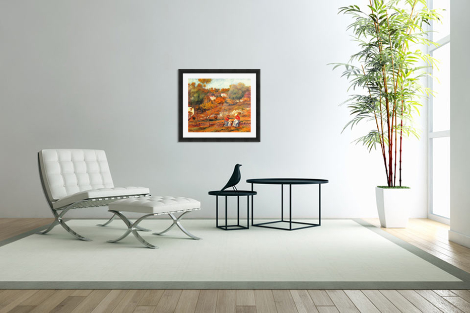 Landscape with Cagnes in Custom Picture Frame