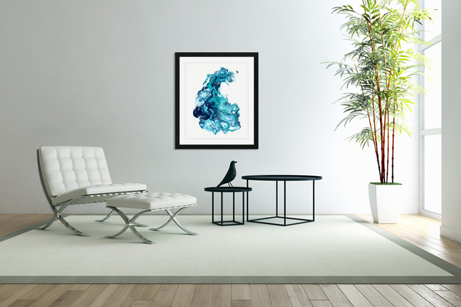 Surf Wave in Custom Picture Frame