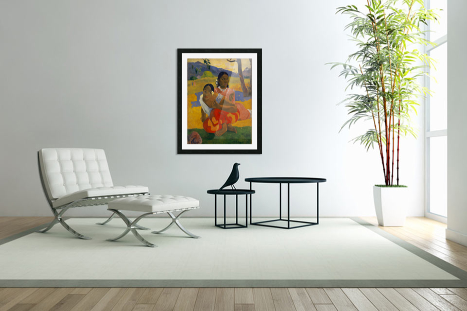 Paul Gauguin: When Will You Marry HD 300ppi in Custom Picture Frame