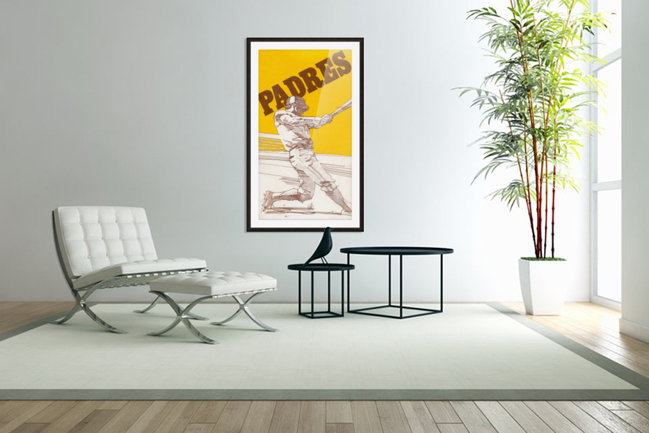 1974 san diego padres art reproduction in Custom Picture Frame