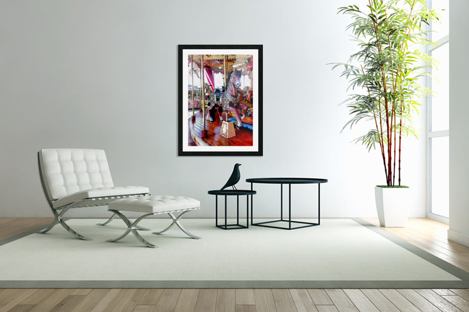 Merry Go Round Horses in Custom Picture Frame