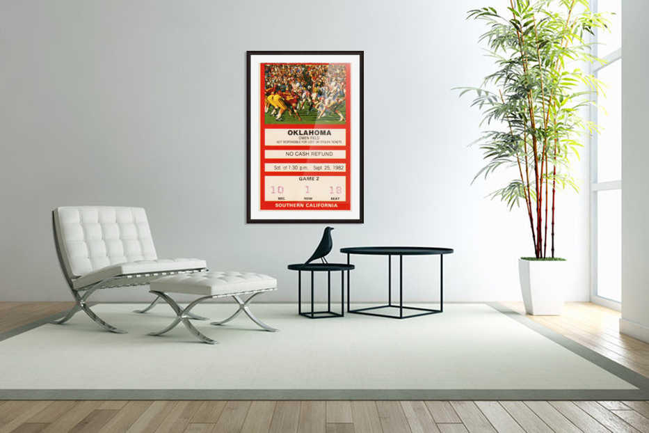 1982 USC vs. Oklahoma in Custom Picture Frame