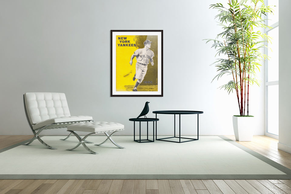 1965 new york yankees poster in Custom Picture Frame