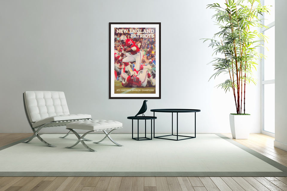 1979 New England Patriots Retro Football Poster in Custom Picture Frame