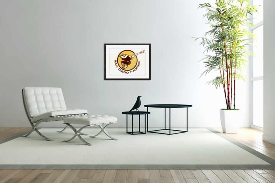 Retro San Diego Padres Art in Custom Picture Frame