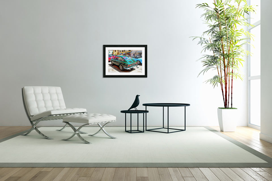 Fiat 850 Sport Coupe in Custom Picture Frame