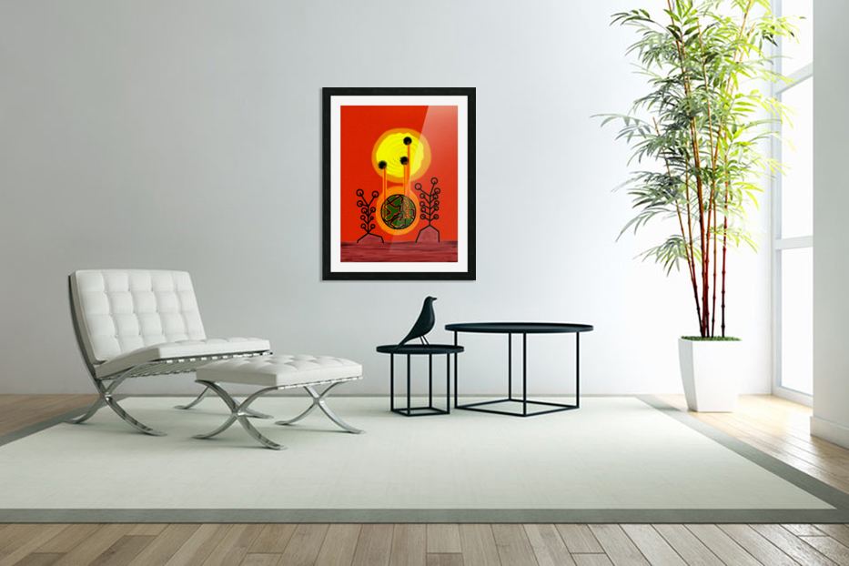 Earth is Burning  in Custom Picture Frame