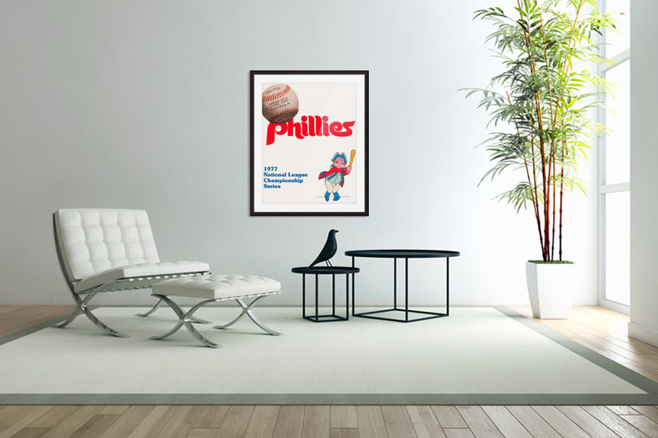 1977 philadelphia phillies national league championship series poster in Custom Picture Frame