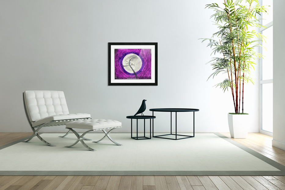 Moon in Custom Picture Frame