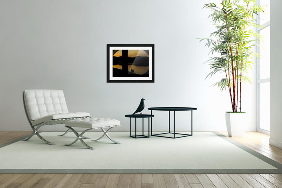 contemplation at waters edge in Custom Picture Frame