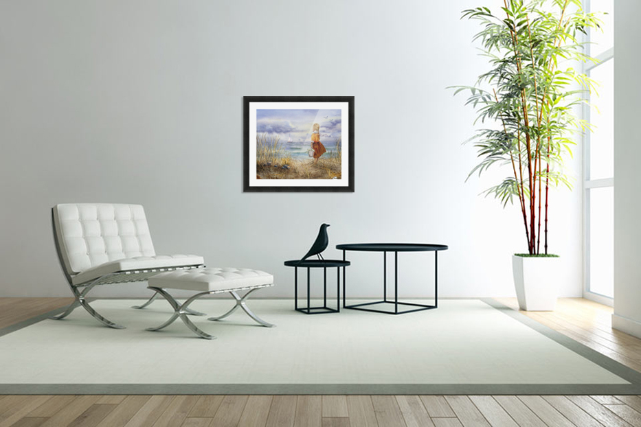 Girl And The Ocean in Custom Picture Frame