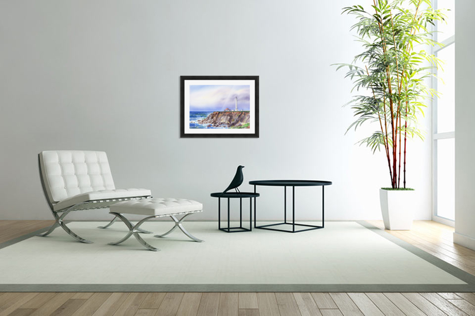 Lighthouse Point Arena California  in Custom Picture Frame