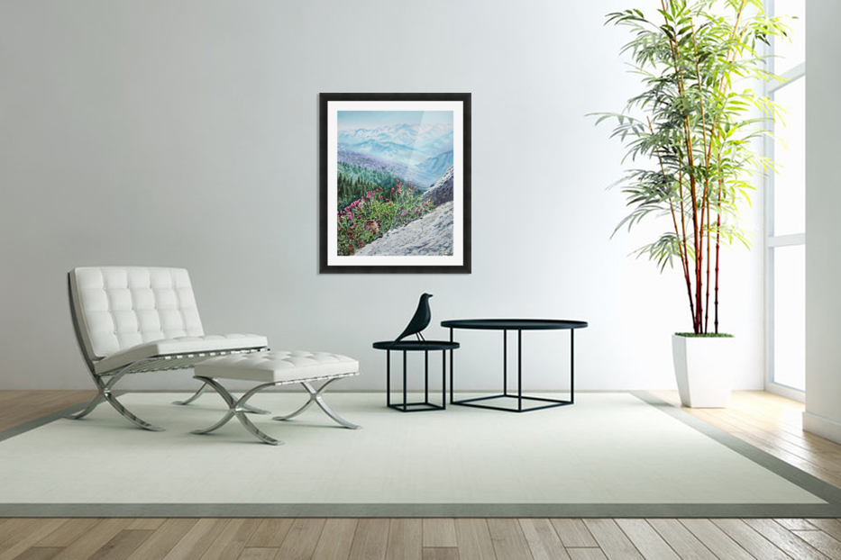 Mountains Of Sequoia  in Custom Picture Frame