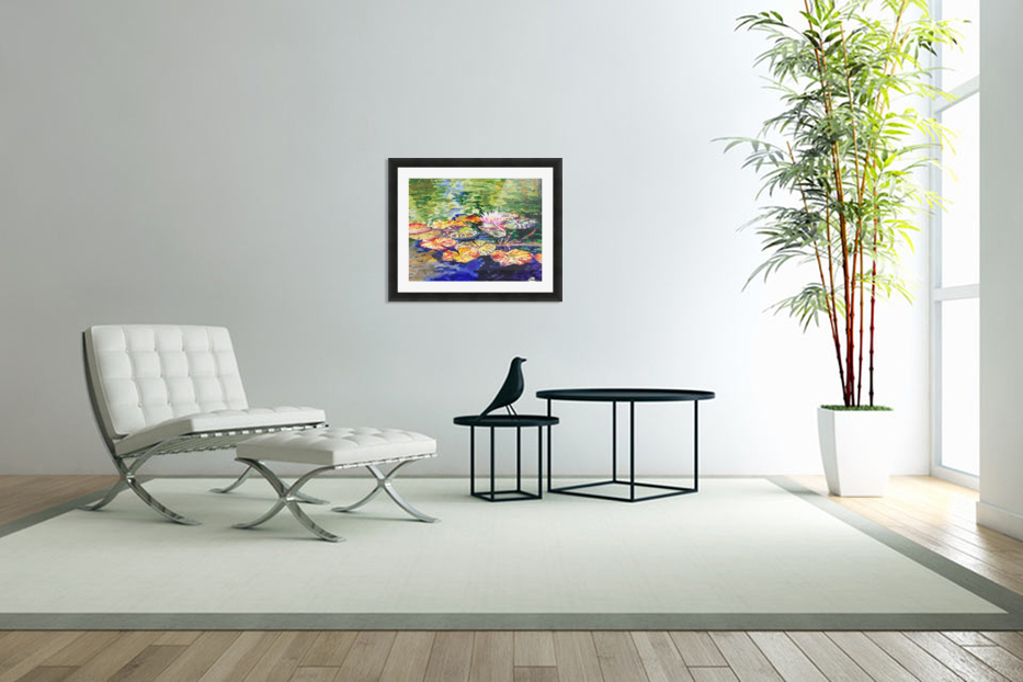 Water Lilies in Custom Picture Frame
