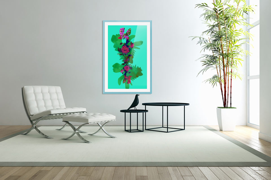 Floral Collage in Custom Picture Frame